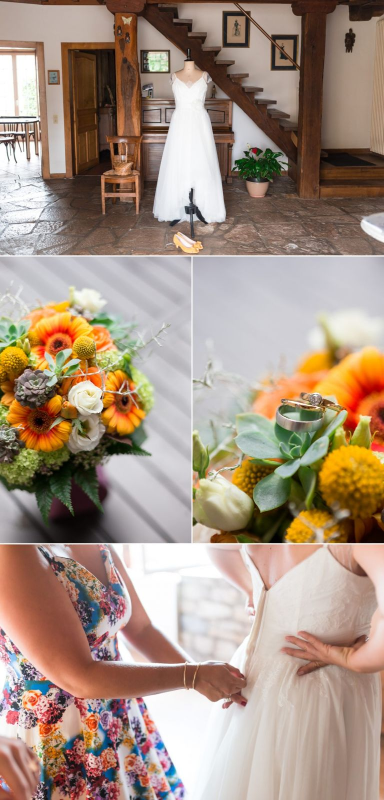 détails de la mariée
