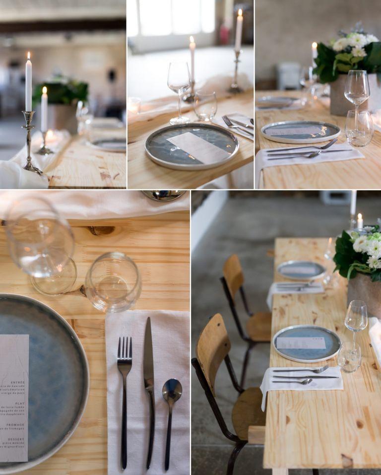 une table romantique pour un shooting d'inspiration