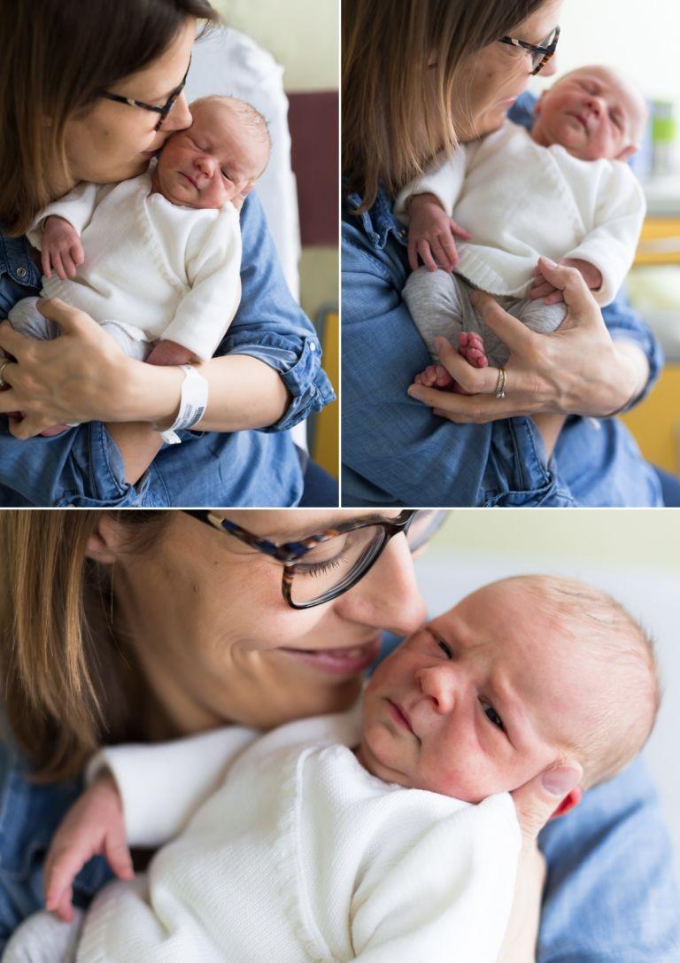 portraits de bébé et maman à la maternité
