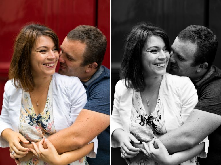 comparaison d'une photo en couleur ou en noir et blanc