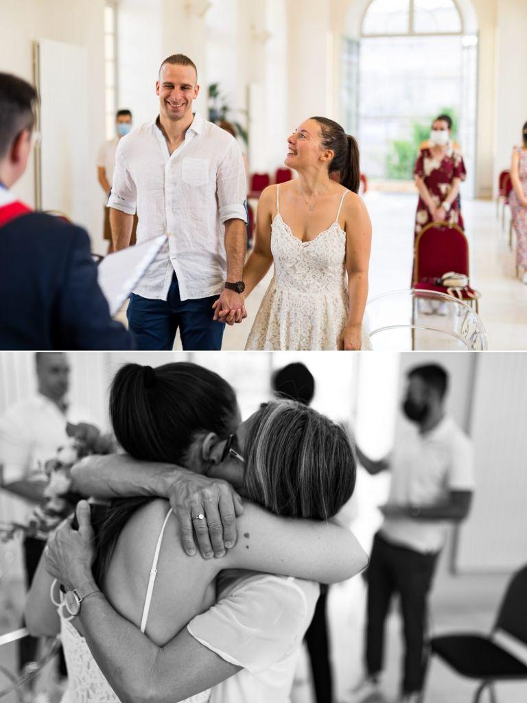 cérémonie civile d'un joli mariage